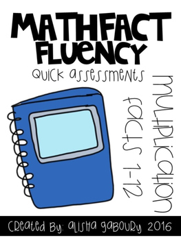 Fact Fluency: Multiplication Quick Assessments