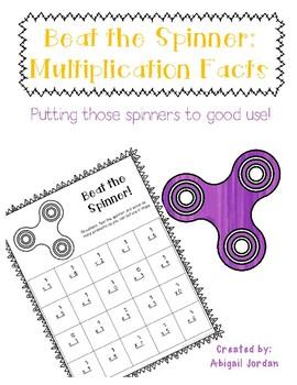 Multiplication Fact Fluency : Beat the Spinner