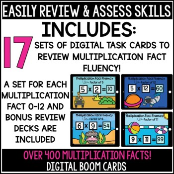 Multiplication Fact Fluency Boom Cards