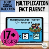 Multiplication Fact Fluency Boom Cards Distance Learning