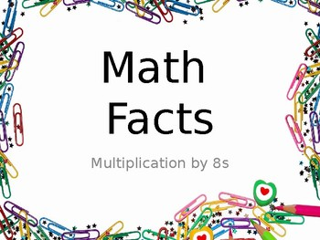 Multiplication Fact Fluency Brain Breaks - Multiplication by 8s
