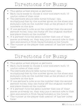 Multiplication Fact Fluency Bump!