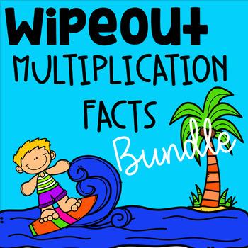 Multiplication Fact Fluency Bundle - WipeOut -Math Game