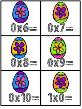 Multiplication Fact Fluency Cards for April