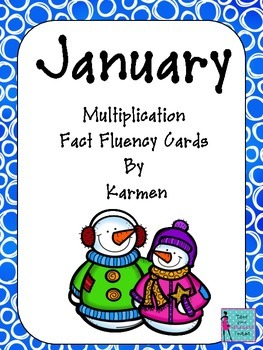 Multiplication Fact Fluency Cards for January