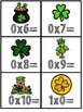 Multiplication Fact Fluency Cards for March