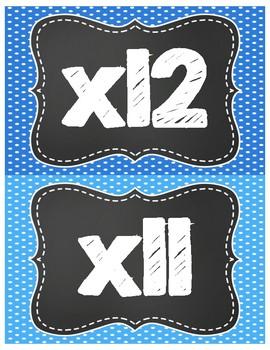 Multiplication Fact Fluency Clip Chart