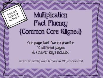 Multiplication Fact Fluency {Common Core Aligned}