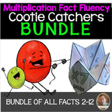 Multiplication Fact Fluency Cootie Catcher/Fortune Teller BUNDLE- Facts for 2-12