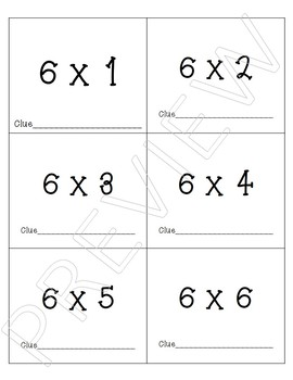 Multiplication Fact Fluency Data Tracking and Goal Setting Sheets