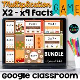 Multiplication Fact Fluency Digital Game BUNDLE Fall Theme