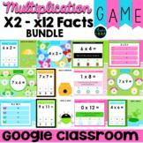 Multiplication Fact Fluency Digital Game BUNDLE Spring Theme