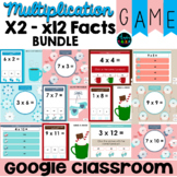 Multiplication Fact Fluency Digital Game BUNDLE Winter Theme