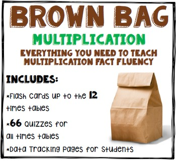 Multiplication Fact Fluency: Flash Cards, Quizzes, and Self-Progress Monitioring