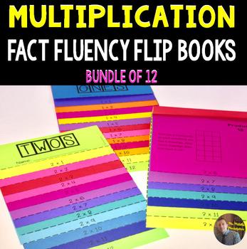Multiplication Fact Fluency Flip Books: BUNDLE of 12 Fluen