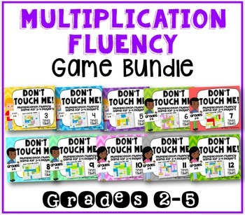 Multiplication Fact Fluency Games: BUNDLE of ALL Facts 0-12