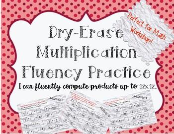 Multiplication Fact Fluency Grades 3-5 Math Center and Remediation!