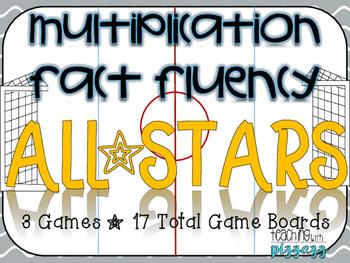 Multiplication Fact Fluency Hockey Allstars