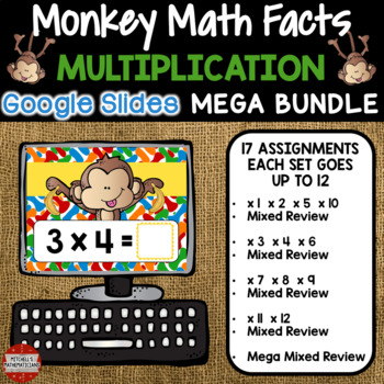 Multiplication Fact Fluency MEGA BUNDLE using Google Classroom