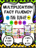 Multiplication Fact Fluency MINI BUNDLE: Multiply by 8-12 plus a Mixed Review!