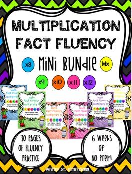 Multiplication Fact Fluency MINI BUNDLE: Multiply by 8-12
