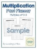 Multiplication Fact Fluency - Multiples of 0-3 SAMPLE