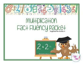 Multiplication Fact Fluency Packet