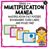 Multiplication Fact Fluency Posters, Flashcards, Bookmarks, and More