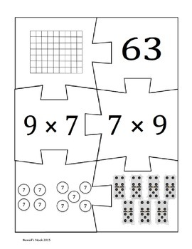 Multiplication Fact Fluency Puzzles
