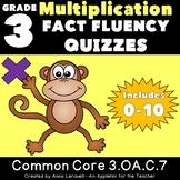 Multiplication Fact Fluency Quizzes 0-10