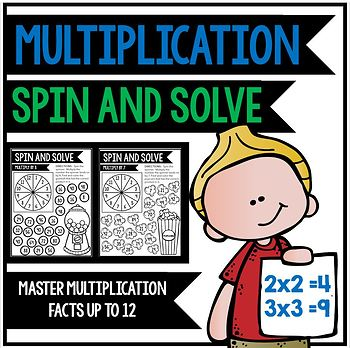 Multiplication Fact Fluency: Spin and Solve