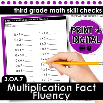 Multiplication Fact Fluency - Third Grade Print and Go