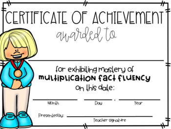 Multiplication Fact Fluency (Timed Tests, Flash Cards, Certificates, & More)