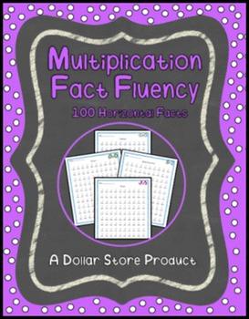 Multiplication Fact Fluency Timed Tests - Vertical 100