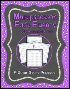 Multiplication Fact Fluency Timed Tests - Vertical 100