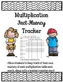 Multiplication Fact Fluency Trackers