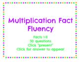 Multiplication Fact Fluency for Google Slides Online Dista