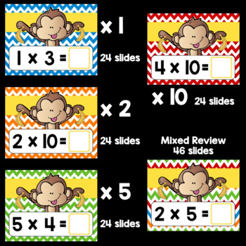 Multiplication Fact Fluency x1, x2, x5, and x10 using Google Classroom