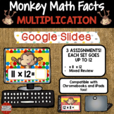 Multiplication Fact Fluency x11 and x12 using Google Classroom