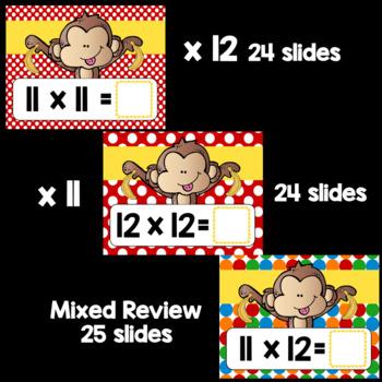 Multiplication Fact Fluency x11 and x12 using Google Classroom