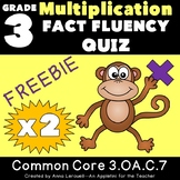 Multiplication Fact Fluency x2 Quiz FREEBIE