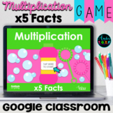 Multiplication Fact Fluency x5 Facts Digital Game Spring Theme