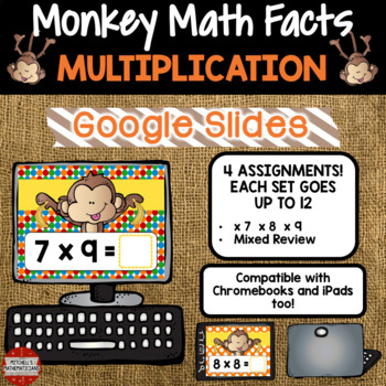 Multiplication Fact Fluency x7, x8, and x9 using Google Classroom