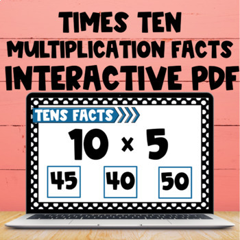 Multiplication Fact Freebie - Interactive PDF - 10s Facts