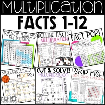 Multiplication Fact Fun Bundle: Multiplication Worksheets, Games and Fact Flips
