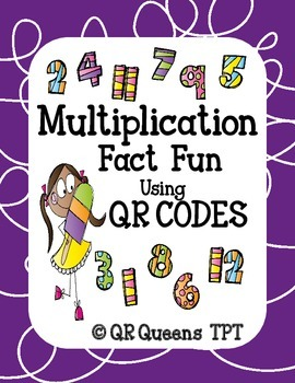 Multiplication Fact Fun Bundle using QR Codes and Links Listening Center