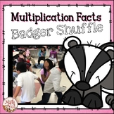 "Multiplication Fact Game ""Badger Shuffle"""