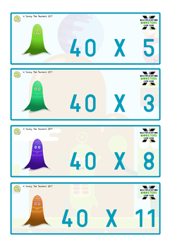 Trading Cards Activity: Multiplication / Times Tables Facts (Grades 3-6)