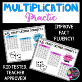 Multiplication Game: Crazy Critter Connect 4