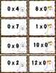Multiplication Fact Game - Halloween Themed - 2 Options - Differentiated